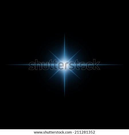 Star burst  light beam vector - stock vector