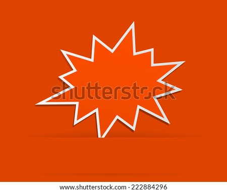 star burst red abstract background with banner -design element - stock vector