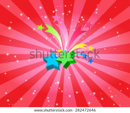 Star burst with captivating background - stock vector