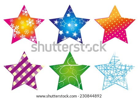 Star-collection - stock vector