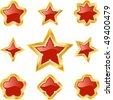 Star collection. Set of original vector symbols. - stock vector