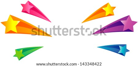 Star 3d background - stock vector