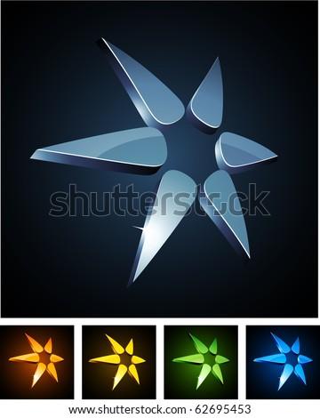Star 3d vector icon such logos. - stock vector