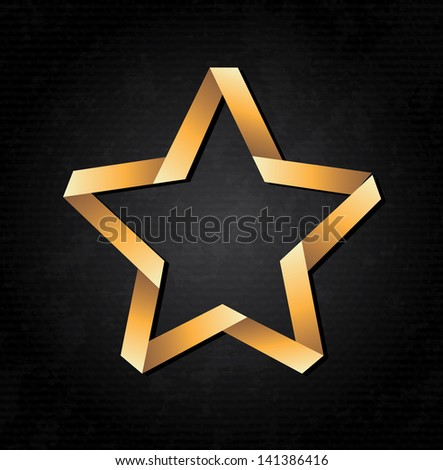 star design over black background vector illustration - stock vector