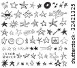 Star Doodles - stock vector