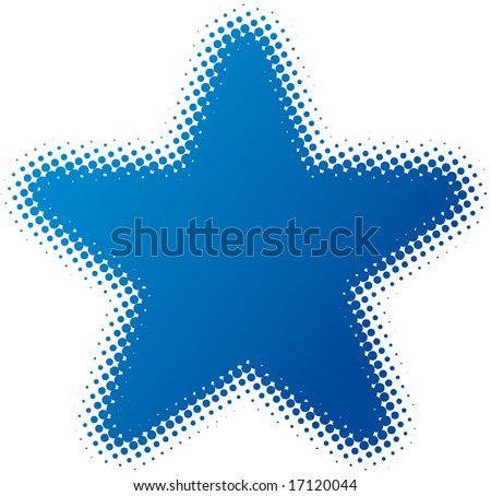 star (dotted design series) - stock vector