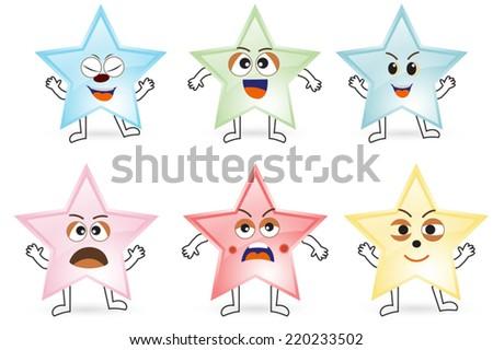 Star emoticon  - stock vector