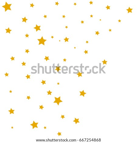 Star Falling Confetti Print Vector Background For Birthday Party Celebration Starlight Light Paper