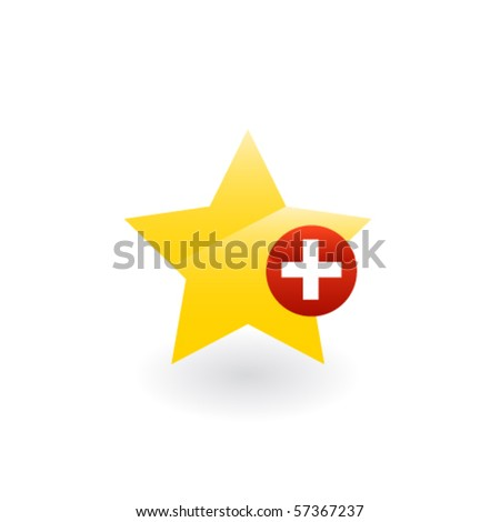 Star favorite  button. Vector - stock vector