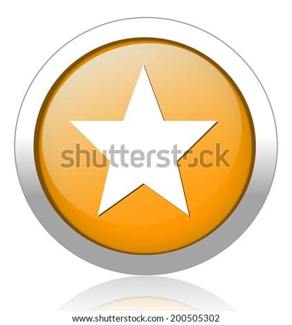 Star favorite web icon - stock vector