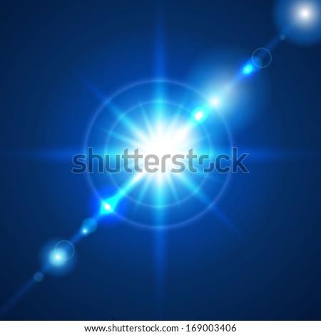Star flash vector illustration - stock vector
