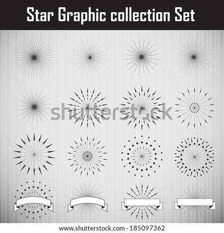 Star Graphic collection. Vector illustration - stock vector