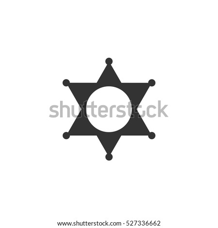 Star icon flat. Illustration isolated vector sign symbol