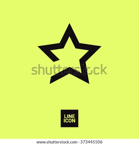 star icon. Leader, winner, boss, rank, medal, sport logo, competition, sky symbol, astrology, military, troops. Isolated minimal single flat icon in black and white colors. - stock vector