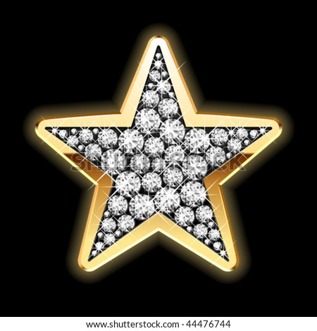 Star in diamonds. Detailed vector. - stock vector