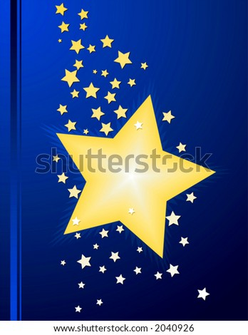Star layout that can be used as an award, display, or cover.