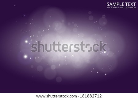 Star light  vector glittering space lights - Abstract  vector purple  starfield  background illustration - stock vector