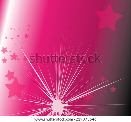 Star light with purple background - stock vector