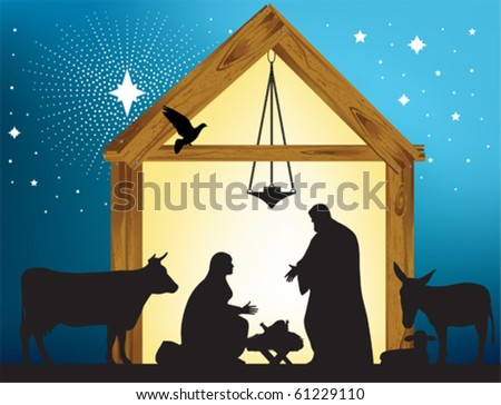 Star of Bethlehem. All elements and textures are individual objects. - stock vector