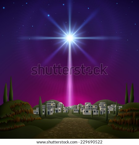 Star of Bethlehem. EPS 10, contains transparency. - stock vector