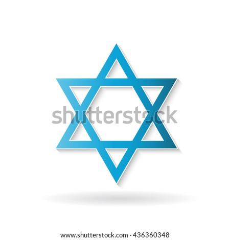 Star David Judaism Symbol Vector Design Stock Vector 436360348