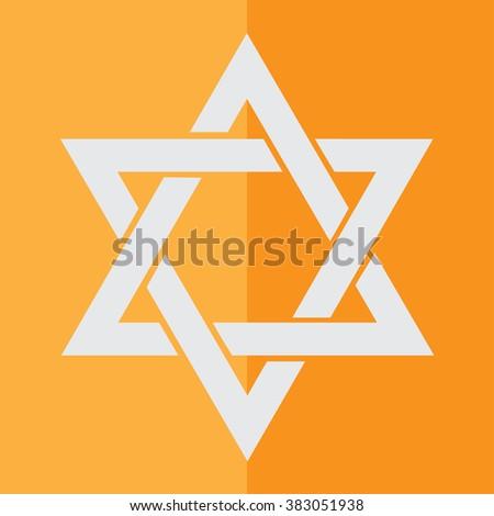 Star David Symbol Judaism Stock Vector 383051938 Shutterstock
