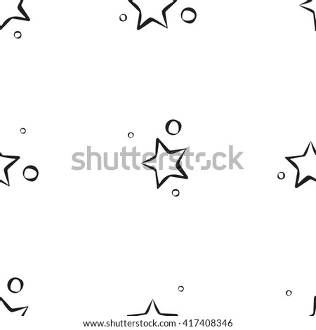 Star pattern vector. Star pattern retro. Star pattern seamless. Star pattern pattern black. Star pattern hand drawn. Star pattern trendy. Star pattern background. Star pattern for wrapping paper, web - stock vector