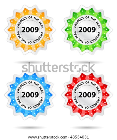 Star promo sticker - stock vector