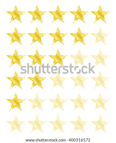 Star rating for 0 - 5 stars. Best rating. Vector Illustration - stock vector