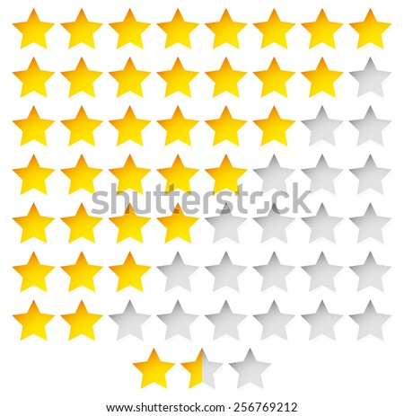 Star Rating Template Vector with group of stars - stock vector