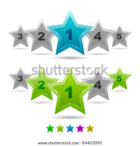 Star rating vector icons - stock vector