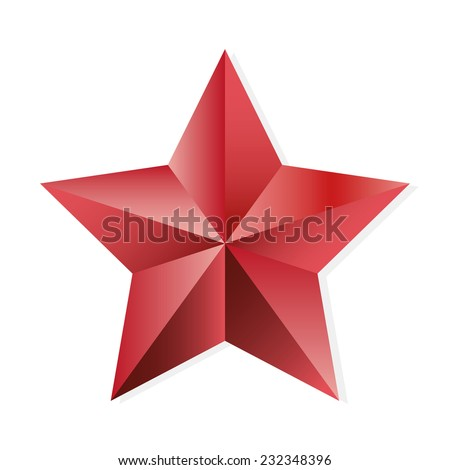 Star ruby. Vector, isolated object on white background - stock vector