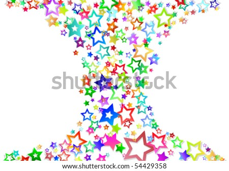 Star's. Abstract background.