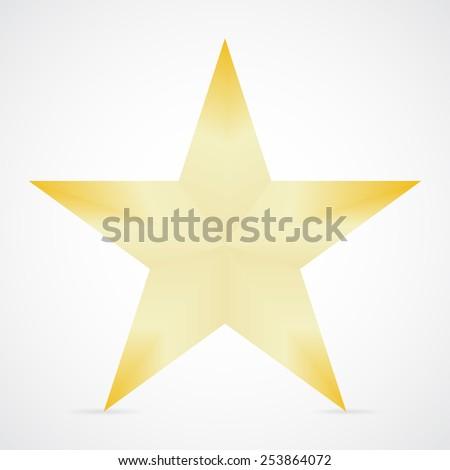 Star shadow white background vector illustration - stock vector