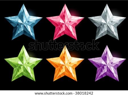 star shape gemstone - stock vector