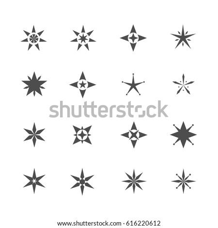 sparkles twinkle lights line vector icons stock vector 496140331 shutterstock. Black Bedroom Furniture Sets. Home Design Ideas