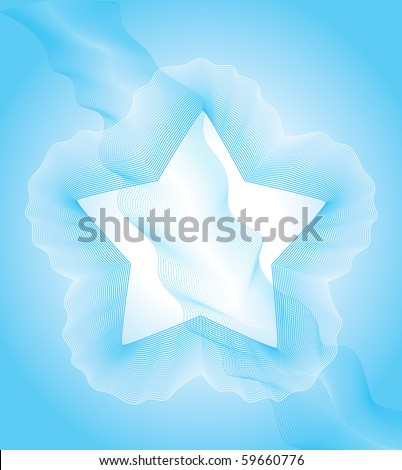star shape in smoke - stock vector