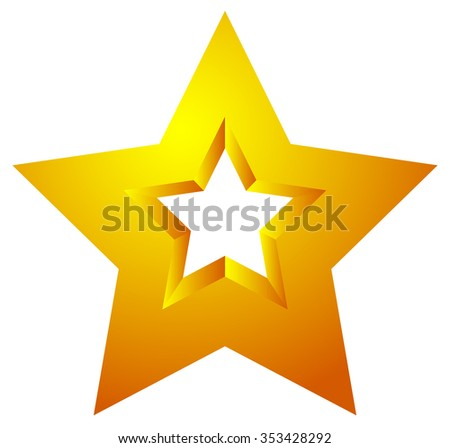 Star shape isolated on white. Vector illustration. - stock vector