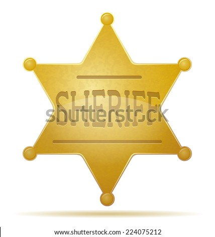 star sheriff vector illustration isolated on white background - stock vector