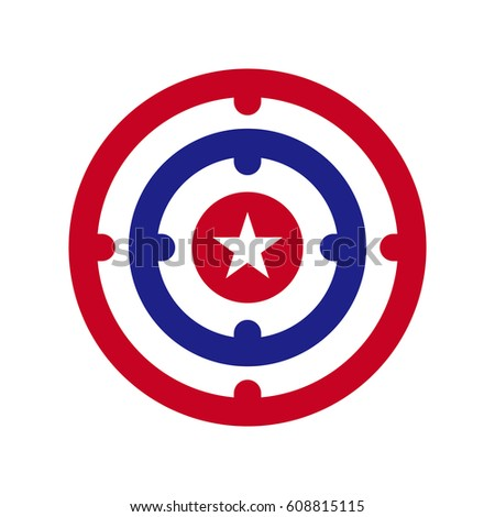 star shooting target stock vector hd royalty free 608815115 rh shutterstock com target australia logo vector target cartwheel vector logo
