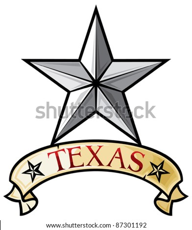 Star - Symbol of the State of Texas (Texas Lone Star) - stock vector