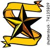 star tattoo - stock vector