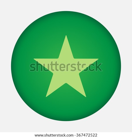 Star vector icon  - stock vector