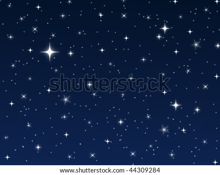 Star Vector Night Sky - stock vector
