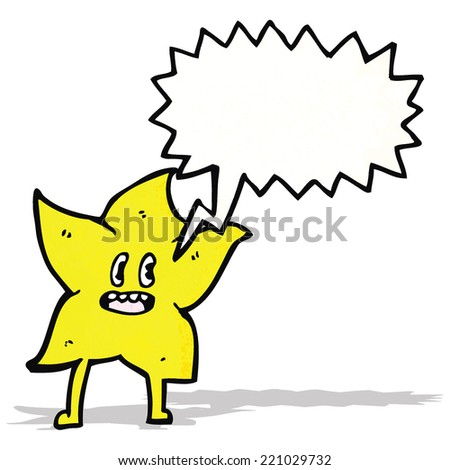 star with speech bubble cartoon