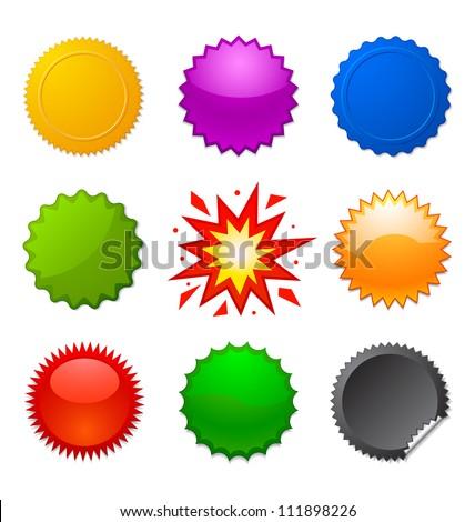 starburst seals - stock vector