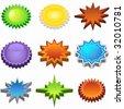 starburst set bright - stock vector