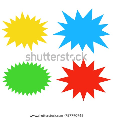 starburst speech bubbles set bursting icon stock vector 757790968 rh shutterstock com vector starburst yellow vector starburst badge