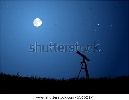 Stargazing with Full Moon