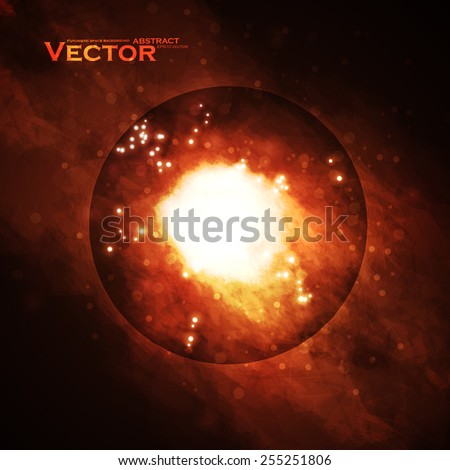 Starry background, rich star forming nebula, colorful abstract illustration eps10
